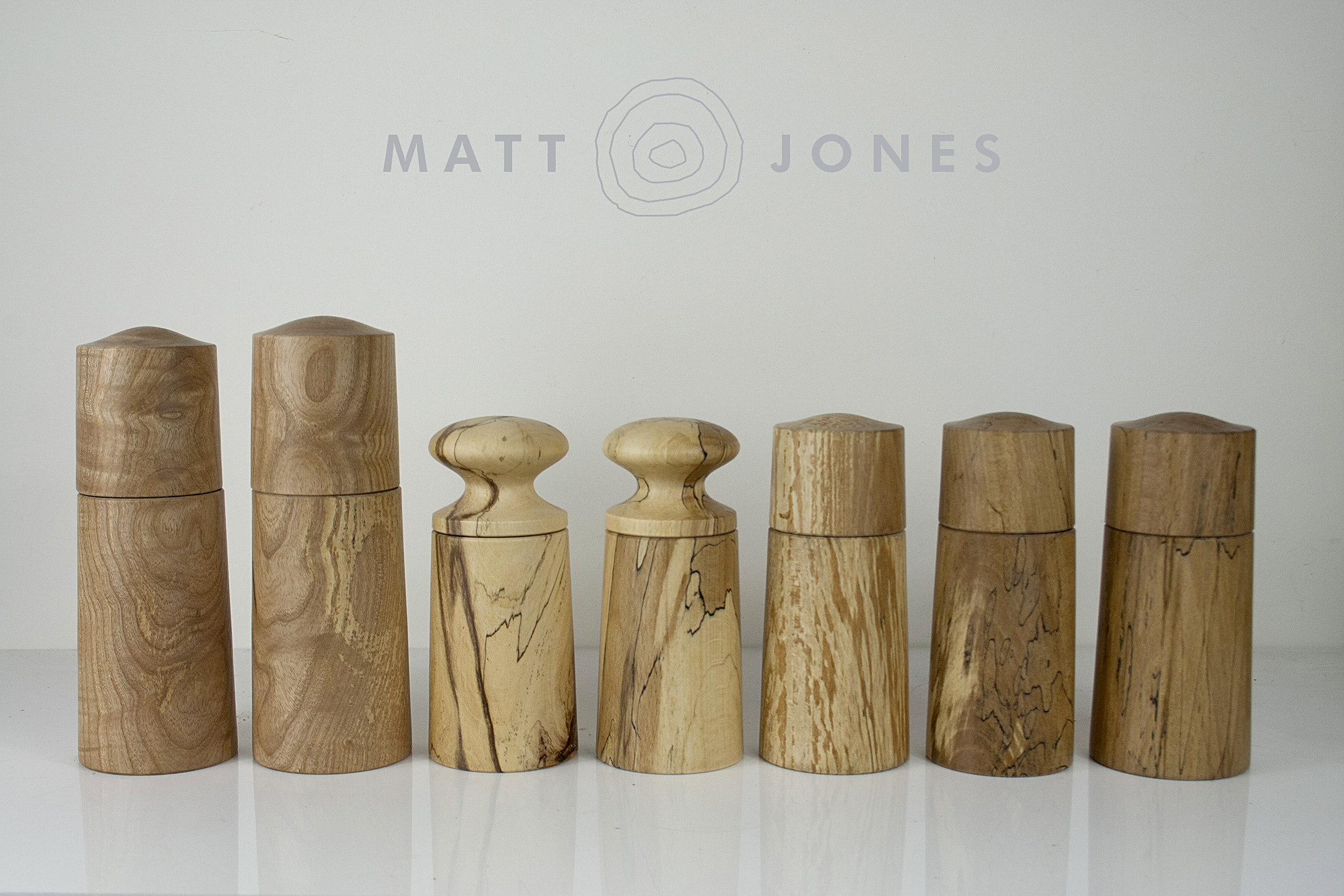 Handmade Wooden Salt Mills And Pepper Grinders Made In Ireland